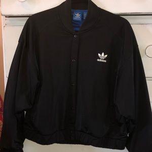 Black Adidas bomber jacket